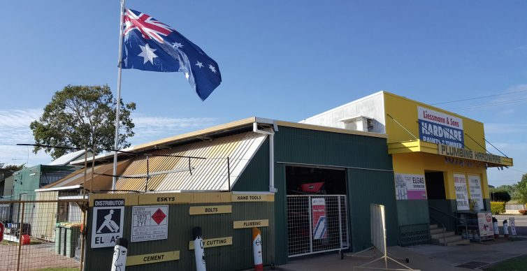 Australia Day Flag at Liessmann and Sons