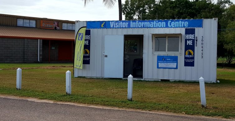New temporary Tourist Information Centre in a shipping container
