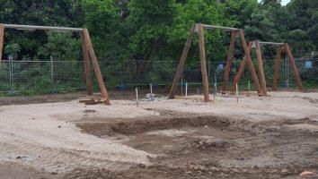 Plantation Park Nature Based Play Area Swing Frames