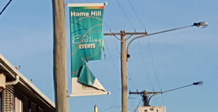 Ripped flags need replacing in Home Hill