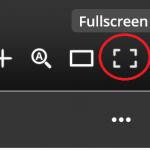 Issuu full screen button