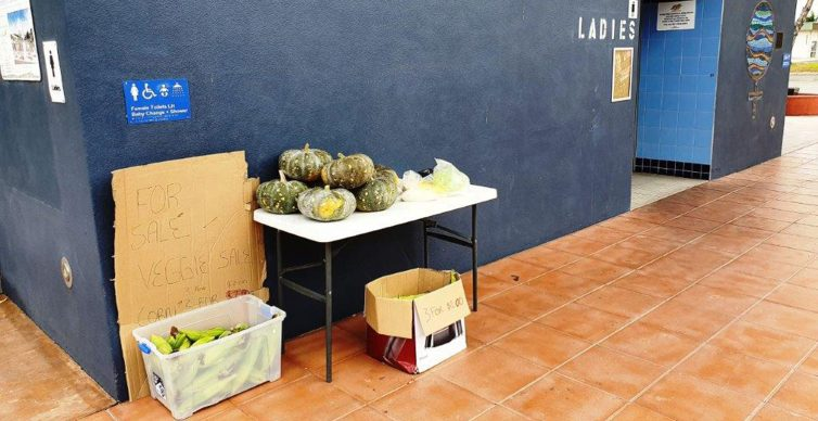 Low cost development - Vegetable stall